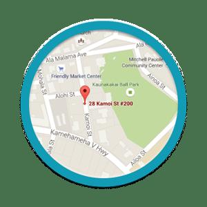 Molokai Map at Dung Orthodontics in Honolulu and Aiea HI